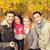 mosolyog · barátok · elvesz · ősz · park · évszak - stock fotó © dolgachov