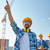 builders pointing finger aside on construction stock photo © dolgachov