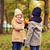 gyerekek · gyűjt · levelek · ősz · park · gyermekkor - stock fotó © dolgachov
