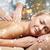 feliz · bela · mulher · de · volta · massagem · pessoas - foto stock © dolgachov