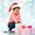 belo · pequeno · menina · natal · seis - foto stock © dolgachov