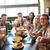 gelukkig · vrienden · eten · drinken · bar · pub - stockfoto © dolgachov