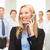 монтаж · люди · телефон · разговор · Министерство · внутренних · дел · бизнеса - Сток-фото © dolgachov
