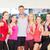 groep · mensen · gymnasium · fitness · mannen · opleiding - stockfoto © dolgachov