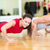smiling couple doing push ups in the gym stock photo © dolgachov