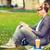 boy with headphones tablet pc books and coffee stock photo © dolgachov