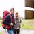 paar · wegwijzer · reizen · toerisme · wandelen · mensen - stockfoto © dolgachov