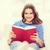 sorridere · lettura · libro · divano · tempo · libero - foto d'archivio © dolgachov