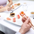 çift · yeme · sushi · restoran - stok fotoğraf © dolgachov