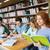 grupo · estudiantes · lectura · libros · parque · femenino - foto stock © dolgachov