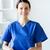 sorridente · enfermeira · clipboard · menina · hospital · medicina - foto stock © dolgachov