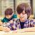 grupo · escolas · crianças · escrita · corpo · sala · de · aula - foto stock © dolgachov