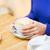 arte · xícara · de · café · mão · mulher · potável - foto stock © dolgachov