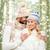 幸せな女の子 · 森林 · ツリー · 木の幹 · 森 - ストックフォト © dolgachov