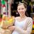 mujer · mercado · mirando · mujer · sonriente · negocios · alimentos - foto stock © dolgachov