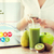 vrouw · handen · smartphone · gezond · eten - stockfoto © dolgachov