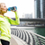 woman drinking water after doing sports outdoors stock photo © dolgachov