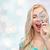 gelukkig · jonge · vrouw · vergrootglas · exploratie · reizen · toerisme - stockfoto © dolgachov