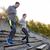 Pareja · ejecutando · estadio · fitness · deporte - foto stock © dolgachov