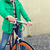 close up of man with fixed gear bike on street stock photo © dolgachov