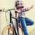 man · vast · versnelling · fiets · zadel - stockfoto © dolgachov