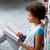 High · School · Studenten · Mädchen · Lesung · Buch · Bibliothek - stock foto © dolgachov