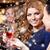 sonriendo · mujeres · cócteles · club · nocturno · vacaciones · vida · nocturna - foto stock © dolgachov