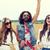 heureux · jeunes · hippie · amis · danse · céréales - photo stock © dolgachov