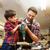 baba · oğul · matkap · çalışma · atölye · aile · marangozluk - stok fotoğraf © dolgachov