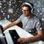 hombre · auricular · jugando · ordenador · videojuegos · casa - foto stock © dolgachov