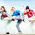 estilo · libre · bailarines · tres · baile · práctica - foto stock © dolgachov