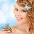 kobieta · motyle · włosy · zdjęcie · szczęśliwy · sexy - zdjęcia stock © dolgachov