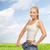 femme · grand · pants · fitness - photo stock © dolgachov