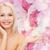 улыбающаяся · женщина · мнимый · лосьон · банку · здоровья - Сток-фото © dolgachov