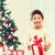 mutlu · çocuk · kız · hediye · kutusu · tatil · hediyeler - stok fotoğraf © dolgachov