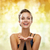 laughing woman in evening dress holding something stock photo © dolgachov