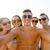 group of smiling friends making selfie on beach stock photo © dolgachov