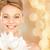 mooie · jonge · vrouw · schouders · brunette · haren - stockfoto © dolgachov