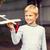 sorridente · pequeno · menino · avião - foto stock © dolgachov