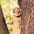 smiling little girl autumn in park stock photo © dolgachov