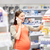 heureux · femme · enceinte · smartphone · pharmacie · grossesse · médecine - photo stock © dolgachov