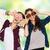 deux · adolescentes · été · amusement · vert · jambes - photo stock © dolgachov