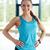 Фитнес-женщины · черный · спортивных · одежды · изолированный · белый - Сток-фото © dolgachov