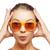 óculos · de · sol · câmera · sorridente · ao · ar · livre · mulher - foto stock © dolgachov