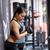 女性 · 腕 · 筋肉 · ケーブル · マシン · ジム - ストックフォト © dolgachov