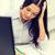 zmęczony · kobieta · interesu · student · edukacji · szkoły · działalności - zdjęcia stock © dolgachov