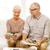 idős · pár · papírok · számológép · otthon · család · üzlet - stock fotó © dolgachov
