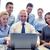 csoport · üzletemberek · videó · konferencia · üzleti · megbeszélés · üzlet - stock fotó © dolgachov