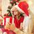 natal · atraente · surpreendido · jovem · senhora · sensual - foto stock © dolgachov