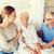 famille · heureuse · supérieurs · femme · hôpital · médecine · soutien - photo stock © dolgachov